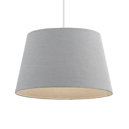 Grey linen effect Lamp Shade 66204 by Endon